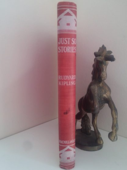 1902 Antique Book Just So Stories, spine of binding