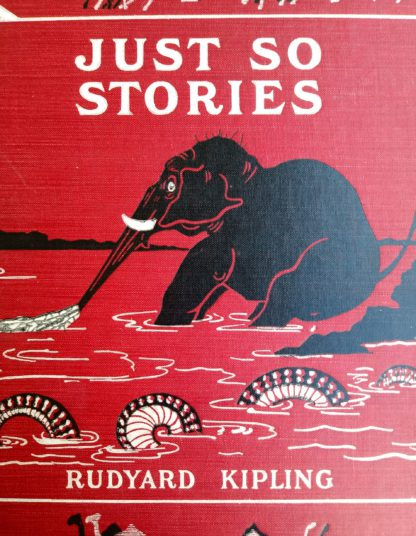 1902 Just So Stories, Rudyard Kipling, front cover up close