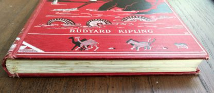 Aeriel view of the tail edge of a 1902 copy of Just So Stories by Rudyard Kipling