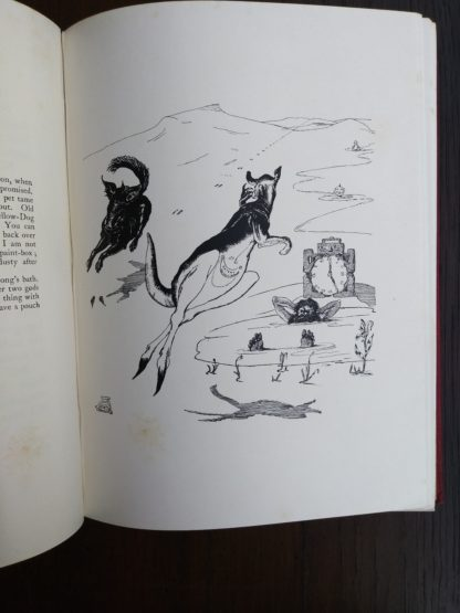 Ilustration in story, Old Man Kangaroo, on page 93 from a 1902 copy of Just So Stories