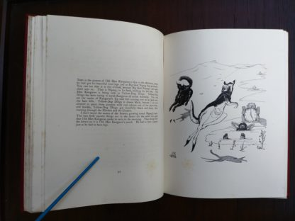 Old man Kangaroo, page 92 and 93 of a 1902 copy of Just So Stories, by Rudyard Kipling