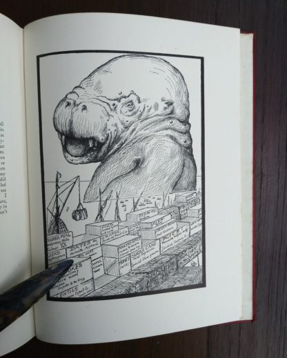 Rudyard Kipling's illustration of the The Animal that Came out of the Sea , from a 1902 First Edition, second printing of Just So Stories