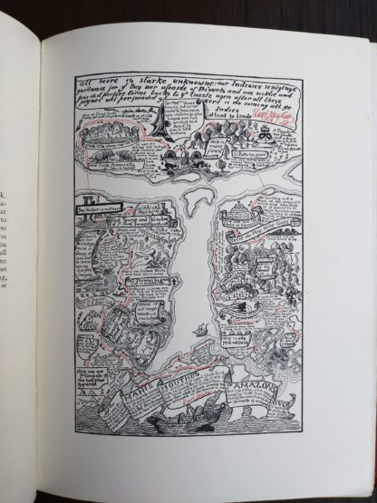 The map of Turbid Amazon, illustrated by Rudyard Kipling on page 105 of a 1902 copy of Just So Stories