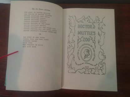 Title Page in a 1966 copy of Doctor Dolittle's Zoo