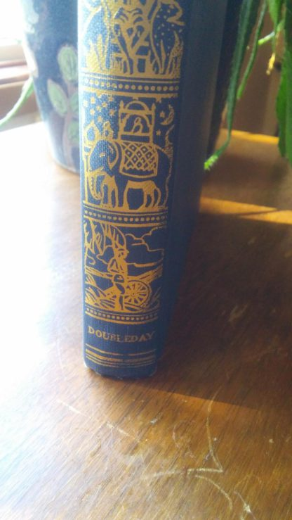 Bottom of spine on a 1907 copy of Just So Stories by Rudyard Kipling, Doubleday and Company publishing