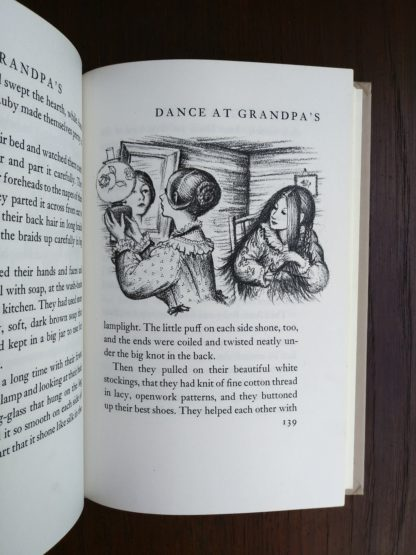 Garth Williams illustration on page 139 in Little House in the Big Woods, 1953 Uniform Edition