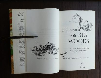 Title page for the novel Little House in the Big Woods, 1953 uniform Edition, Laura Ingalls Wilder