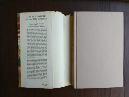 Little House in the Big Woods, 1953 uniform Edition, inside flap of dust jacket, Laura Ingalls Wilder