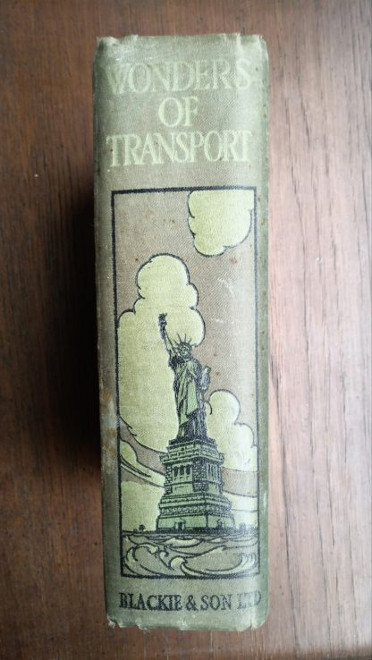 Spine of 1913 Antique book, Wonders of Transport, Cyril Hall