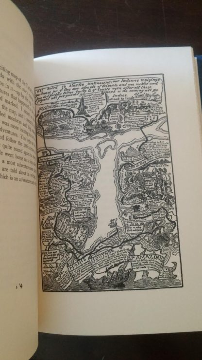 The Map of Turbid Amazon Illustration in a 1907 copy of Just So Stories by Rudyard Kipling, Doubleday publishing