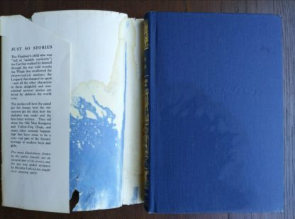 some slight water damage on from cover and back of dust jacket on a 1907 First edition copy of Just So Stories, second printing, Doubleday publishing