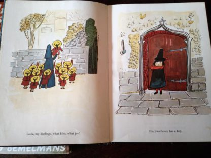 Bemelmans illustration in inside a 1958 copy of Madeline and the Bad Hat