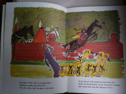Illustration by the author Ludwig Bemelmans inside a 1977 book Madeline in London, Fourth Impression of First Edition