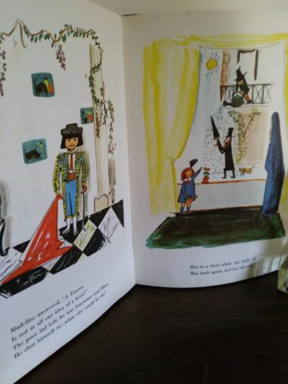 illustrations in a 1958 copy of Madeline and the Bad Hat, First European Release