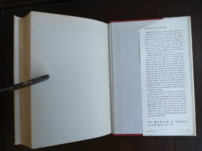 Back paste-down and endpaper inside a 1958 copy of Anatomy of a Murder, 1st Edition & First Printing