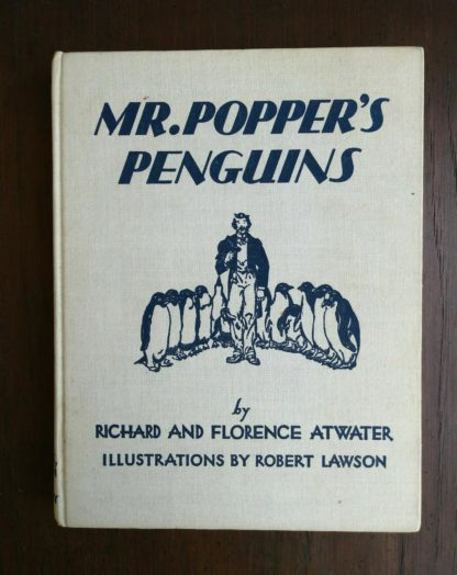 Mr. Poppers Penguins 1938, First Edition, 2nd Printing by Richard & Florence Atwater