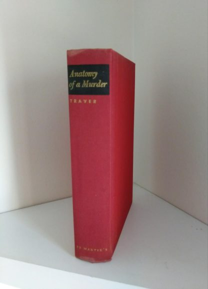 Spine of a 1958 copy of Anatomy of a Murder, 1st Edition & First Printing