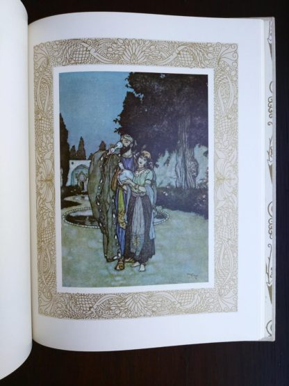 colour illustration by Edmund Dulac in a 1977 copy of Rubaiyat of Omar Khayyam