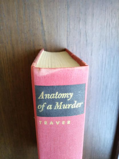 crown of binding on a 1958 copy of Anatomy of a Murder, 1st Edition & First Printing