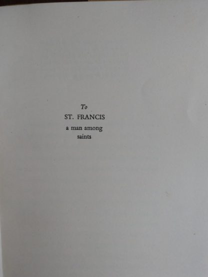 dedication to St Francis in a 1951 1st edition and printing of A Small Miracle, by Paul Gallico