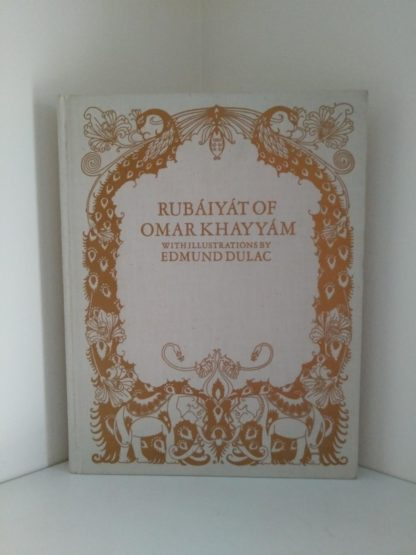 front cover of a 1977 copy of Rubaiyat of Omar Khayyam illustrated by Edmund Dulac