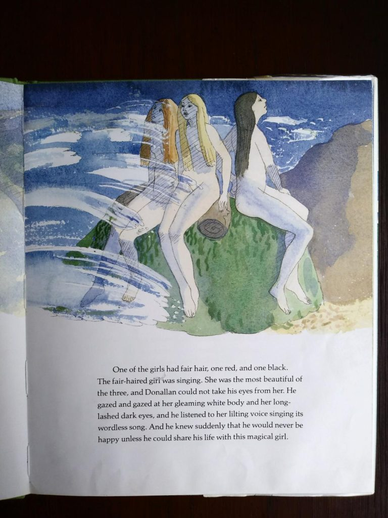 illustration by Warwick Hutton in a 1986 first edition copy of The Selkie Girl retold by Susan Cooper