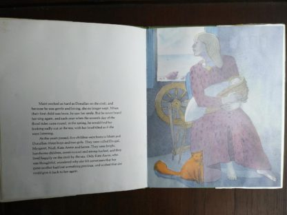 illustration of Mairi in a copy of The Selkie Girl, retold by Susan Cooper, 1986 First Edition