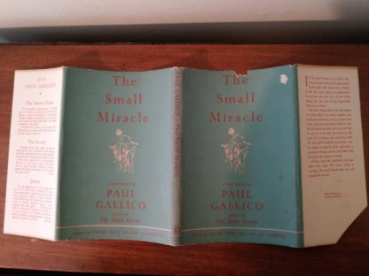 original dust jacket of a 1951 1st edition and printing of A Small Miracle by Paul Gallico