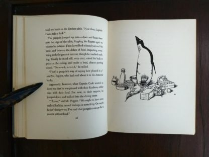 page 26 and 27 in a copy of Mr. Poppers Penguins 1938, 1st Edition, 2nd Printing by Richard & Florence Atwater