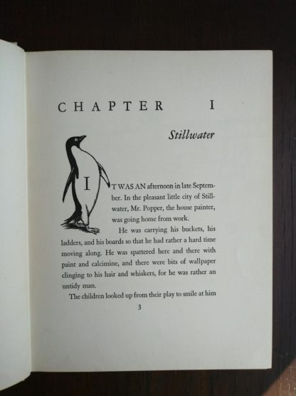 page 3 in a copy of Mr. Poppers Penguins 1938, 1st Edition, 2nd Printing by Richard & Florence Atwater