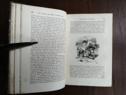 page 68 and 69 in a 1886 copy of Barry Lyndon etc by William H. Thackeray
