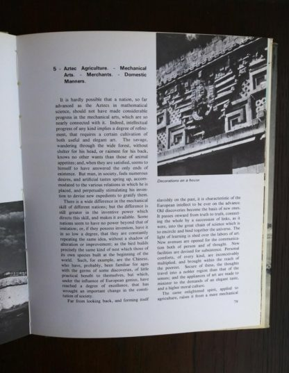 page 79 in a 1970 copy of The World of the Aztecs by William H. Prescott
