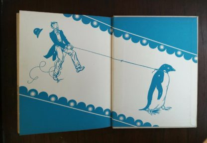 paste down and back endpaper in a copy of Mr. Poppers Penguins 1938, 1st Edition, 2nd Printing by Richard & Florence Atwater