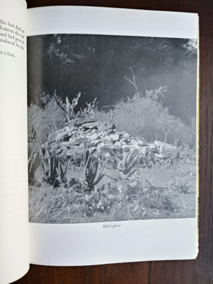 photograph of Elsas grave in a 1962 First Edition copy of Forever Free by Joy Adamson