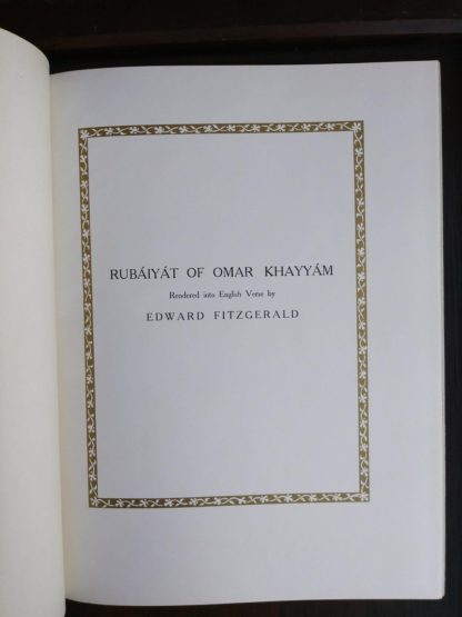 secondary title page in a 1977 copy of Rubaiyat of Omar Khayyam illustrated by Edmund Dulac