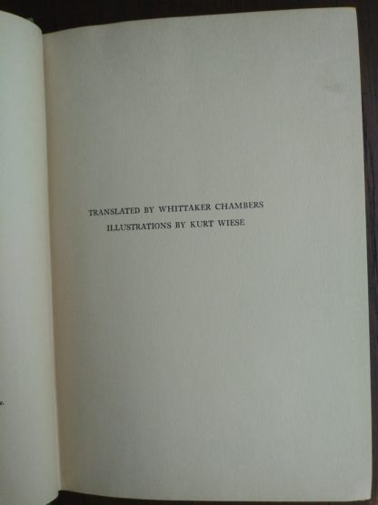translation credit in a 1928 copy of Bambi A Life in the Woods