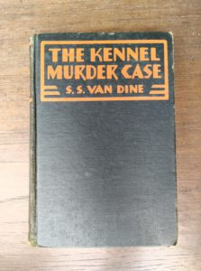1933 copy of The Kennel Murder Case by S. S. Van Dine