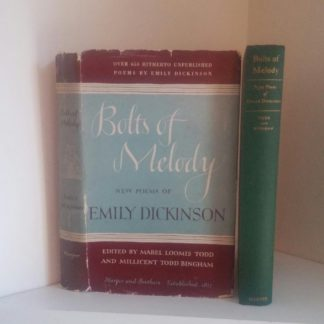1945 First Edition of Bolts of Melody by Emily Dickinson with Dust Jacket