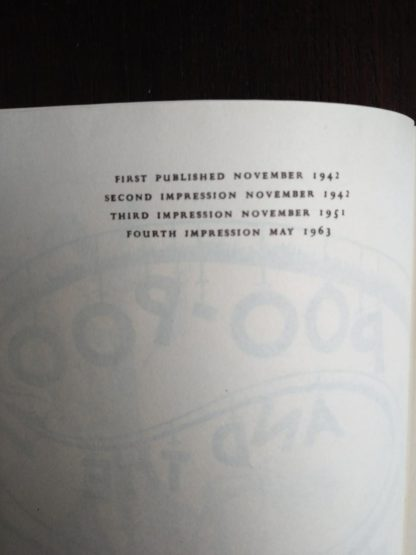 1963, Poo-Poo and the Dragons by C.S Forester, 4th impression, page adjacent to preface page