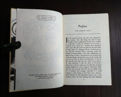 1963, Poo-Poo and the Dragons by C.S Forester, 4th impression, preface page