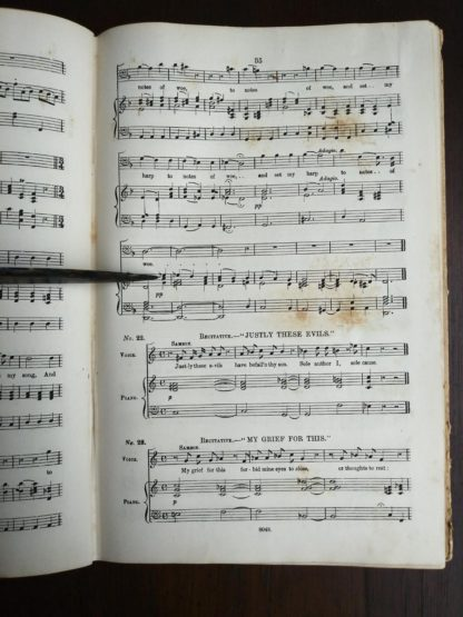 Page 35 in a copy of Samson, an Oratorio in Vocal Score, composed in 1742, by Handel