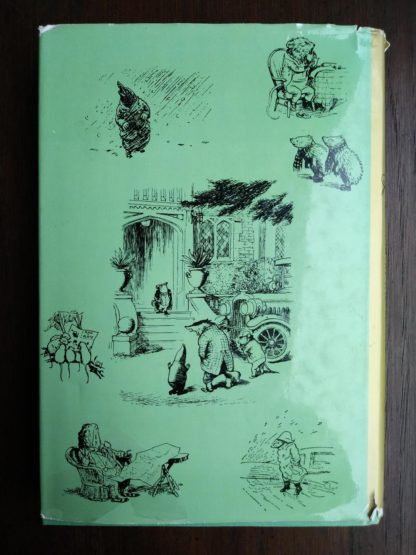 back of dust jacket on a 1960 Golden Anniversary Edition of The Wind in the Willows by Kenneth Grahame