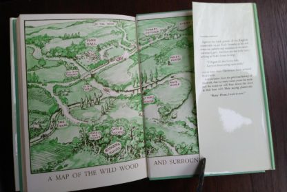 back paste down and end paper in a 1960 Golden Anniversary Edition of The Wind in the Willows by Kenneth Grahame