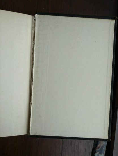 back paste down and endpaper in a 1933 copy of The Kennel Murder Case by S. S. Van Dine