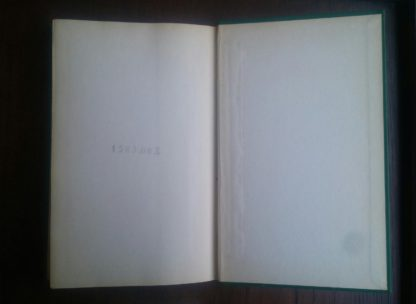 back paste down and endpaper in a 1945 First Edition of Bolts of Melody by Emily Dickinson
