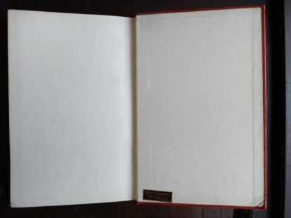 back paste-down and endpaper in a 1958 First Edition of Aku-Aku, The Secret Of Easter Island