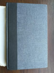 front cloth binding on a 1972 copy of The Descent of Woman, by Elaine Morgan, First British Edition