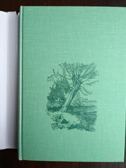 front cover cloth binding on a 1960 Golden Anniversary Edition of The Wind in the Willows by Kenneth Grahame