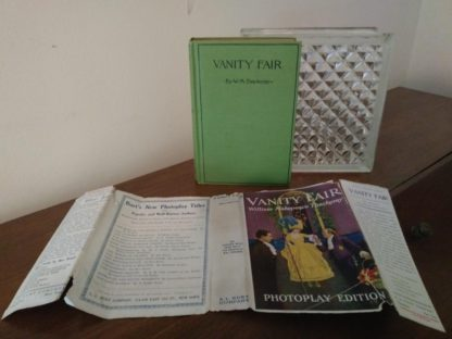 front cover of a 1923 first photoplay edition of Vanity Fair by William Makepeace Thackeray