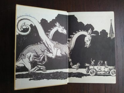 front endpaper and past-down in a 1963, Poo-Poo and the Dragons by C.S Forester, 4th impression
